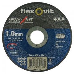 Flexovit Speedoflex vágókorong 115x1,0x22,2mm, BF41, fém-inox
