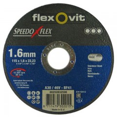 Flexovit Speedoflex vágókorong 115x1,6x22,2mm, BF41, fém-inox