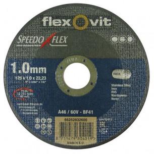 Flexovit Speedoflex vágókorong 125x1,0x22,2mm, BF41, fém-inox
