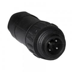 4 pólusú vezérlő csatlakozó dugó (fekete, műanyag)