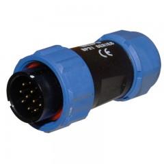 12 Pólusú vezérlőkábel csatlakozó (TIG220;220AC/DC,320AC/DC,420AC/DC)