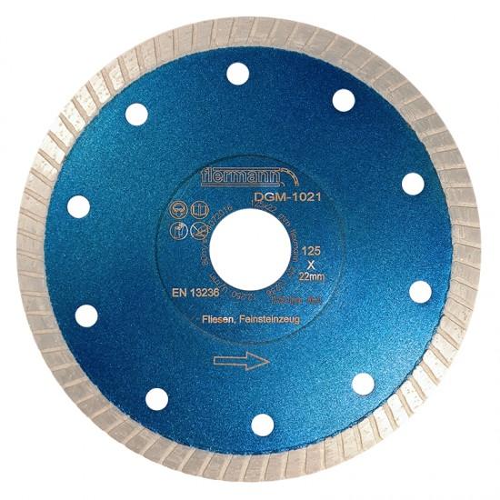 Flexmann For Cut gyémánttárcsa DGM 125x1,2x22,2mm turbo, kék, gránit, márvány