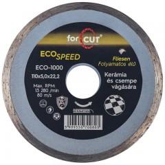 Flexmann For Cut gyémánttárcsa ECO 110x1,6x5x22,2mm folyamatos élű, kerámia, csempe