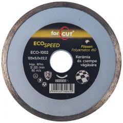 Flexmann For Cut gyémánttárcsa ECO 125x2,0x5x22,2mm folyamatos élű, kerámia, csempe