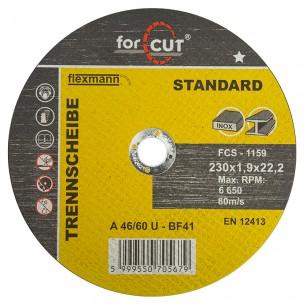Flexmann For Cut Standard vágókorong 230x1,9x22,2mm, BF41, fém-inox