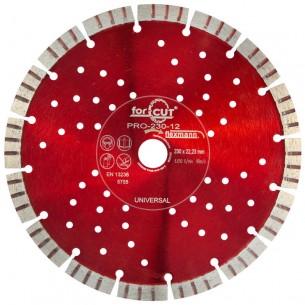 Flexmann For Cut gyémánttárcsa PRO 230x3,0x12x16x22,2mm turbo szegmentált, piros, univerzális
