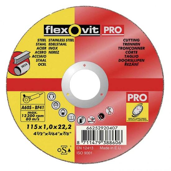 Flexovit Pro vágókorong BF41, fém-inox
