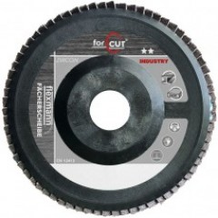 For Cut Industry lamellás csiszolókorong 125x22mm műanyag, kúpos, fém-inox